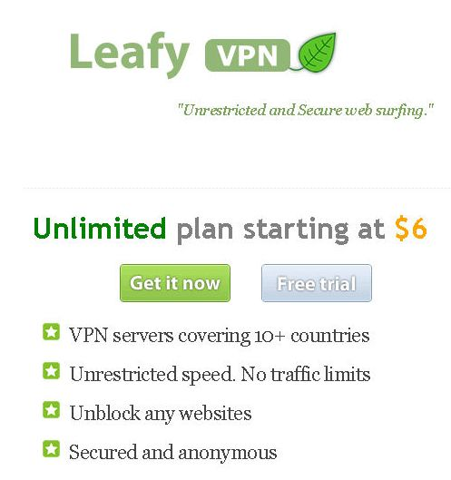 Leafy VPN Review