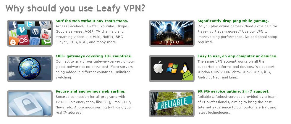 Leafy VPN Review: Summary