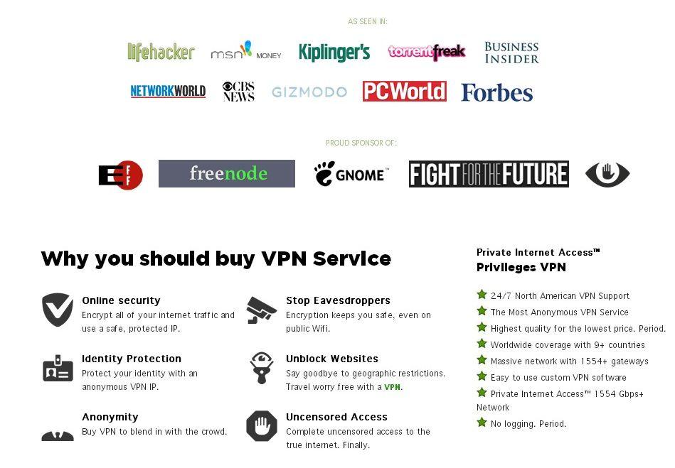 PIA VPN Service